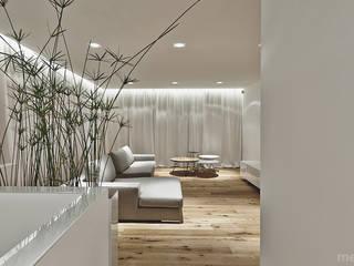 Projekt wnętrza pod łodzią: styl , w kategorii Salon zaprojektowany przez Mess Architects