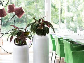 Pflanzengefäße GLAZE in zartem vintage ecru:   von fleur ami GmbH