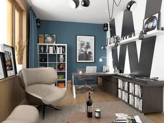 Scandinavian style study/office by ONE STUDIO Scandinavian