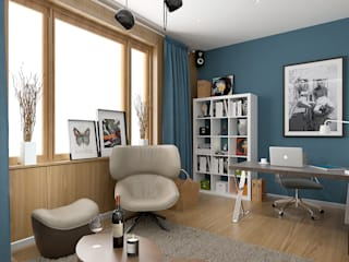 Scandinavian style study/office by ONE STUDIO Scandinavian