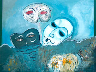 Masques flottants: Salon de style  par ahgraph