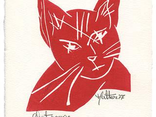 Chat rouge: Salon de style  par ahgraph
