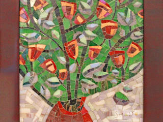 Мозаичная картина «Цветение» от Мастерская художественной мозаики 'SMALTO' Классический