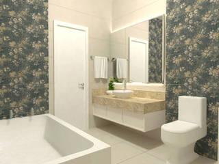 Baños de estilo  por Ana Luci Moro Arquitetura, Moderno