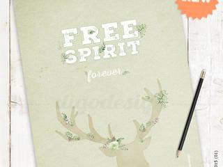 ★ poster ★ free spirit ★ por Digo Escandinavo