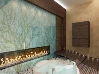 Une cheminée dans un spa:  de style  par Art D.D.C