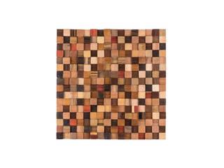Önwall wood mosaic tiles. Designs: rustic  by Önwall, Rustic