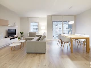 Etxe&Co Salas de estilo moderno Madera Acabado en madera