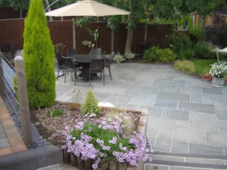 BEAUTIFUL STONE PAVING Jardines modernos de BARTON FIELDS LANDSCAPING SUPPLIES Moderno