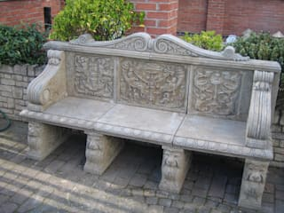 NATURAL LIMESTONE BENCHES 根據 BARTON FIELDS LANDSCAPING SUPPLIES 古典風
