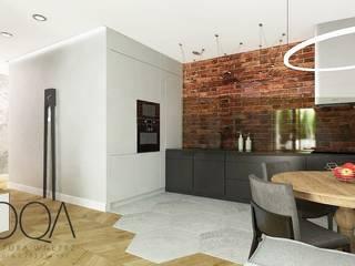 Mieszkanie w Łodzi - os Art Modern: styl , w kategorii  zaprojektowany przez MOQA Monika Lepczyńska