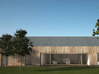 DOM ADAMA: styl minimalistyczne, w kategorii Domy zaprojektowany przez PROSTO ARCHITEKCI