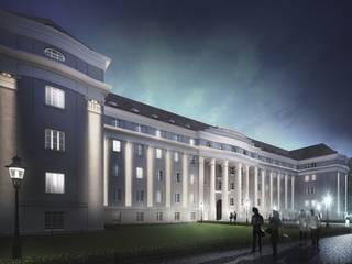 AKADEMIK HANKA: styl , w kategorii Hotele zaprojektowany przez PROSTO ARCHITEKCI
