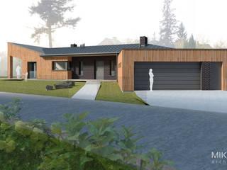 Projekt domu w Szprotawie Nowoczesne domy od MIKMAK architekci Nowoczesny