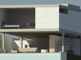 casa pilotis: Casas  por GNC arquitetura e interiores