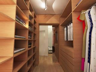 APARTAMENTO URBANO: Closets  por Maxma Studio