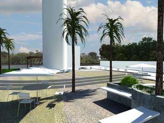 Flexform centro Administrativo: Espaços comerciais  por GNC arquitetura e interiores