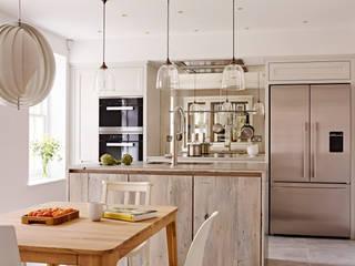 View of kitchen & island Industriale Küchen von Holloways of Ludlow Bespoke Kitchens & Cabinetry Industrial Massivholz Mehrfarbig