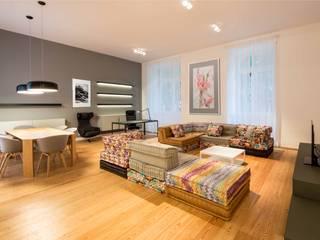 Um apartamento moderno - retro Architect Your Home Salas de estar modernas