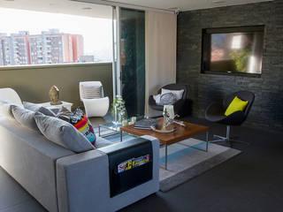 Casa Restrepo Salas modernas de Maria Mentira Studio Moderno