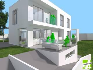 VIVIENDA UNIFAMILIAR AISLADA EN URB AMBERES | TORROX-COSTA | MÁLAGA Casas de estilo moderno de ESTUDIO DE ARQUITECTURA ANTONIO JURADO Moderno