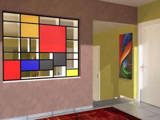 Abitazione a Perugia - Interiors in Perugia Ingresso, Corridoio & Scale in stile moderno di Planet G Moderno