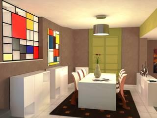 Abitazione a Perugia - Interiors in Perugia Sala da pranzo moderna di Planet G Moderno