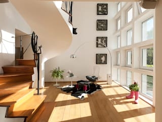 Departamento Roma Oaxaca Pasillos, vestíbulos y escaleras modernos de Germán Velasco Arquitectos Moderno