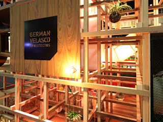 Modern walls & floors by Germán Velasco Arquitectos Modern