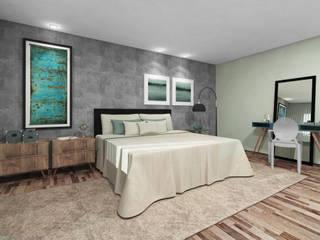 Teia Archdecor Cuartos de estilo minimalista Concreto Gris
