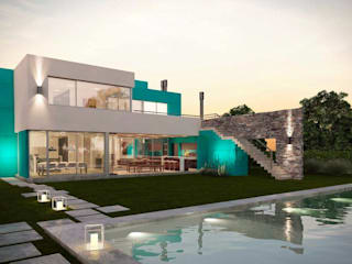 Casa Haras Santa Maria: Casas de estilo moderno por DDARQ3D