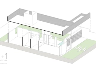 Vivienda unifamiliar:  de estilo  por 1+1 arquitectura