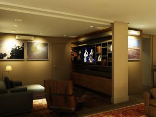 Living room by Eduardo Novaes Arquitetura e Urbanismo Ltda.