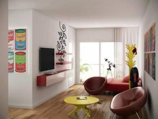 Monoambiente Edificio La Pampa:  de estilo  por DDARQ3D