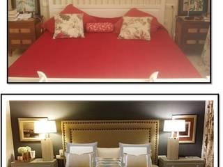 antes y después de dormitorio de Tatiana Doria, Diseño de interiores Clásico