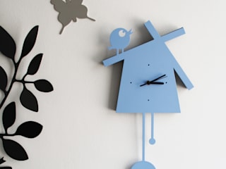 Reloj de pared: Can't Wait de Origami Steel Ecléctico