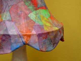 LAMPE DE CHEVET : multicolore:  de style  par Coeur D'art