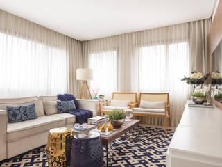Stefani Arquitetura SalonesSofás y sillones Textil Azul