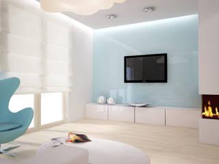 Dom o pow. 130m2 Azaliowa City House Gdańsk Minimalistyczny salon od 3miasto design Minimalistyczny