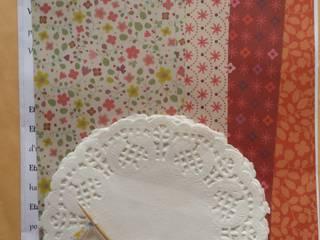 Kit Do It Yourself pour préparation d'une guirlande décoration coeurs origami et dentelle:  de style  par Rose de Biboun