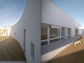 Renders Exteriores: Casas de estilo moderno por DDARQ3D