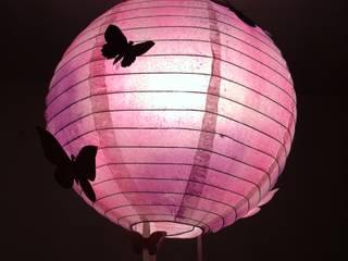 Suspension Papillon rose et violette L'Atelier d'Angel Chambre d'enfantsEclairage Rose