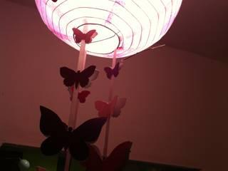 Suspension Papillon rose et violette:  de style  par L'Atelier d'Angel