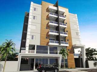 Prédio Residencial e Comercial: Casas  por valente arquitetura e construção