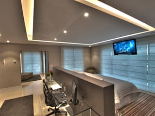 Camera da letto moderna di Pauline Kubiak Arquitetura Moderno