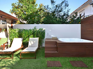 Rustic style garden by Stefani Arquitetura Rustic