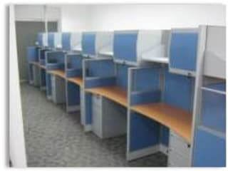 Mobiliario: Oficinas de estilo moderno por Constructora G-9