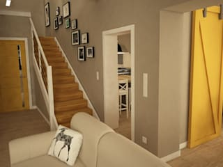 Modern living room by IN STUDIO PRACOWNIA PROJEKTOWA Modern