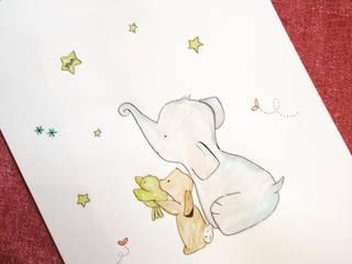 Lámina Elefante de MIVART Escandinavo
