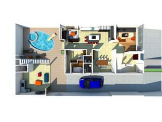 Remodelación vivienda unifamiliar 1: Paredes de estilo  por Constructora G-9